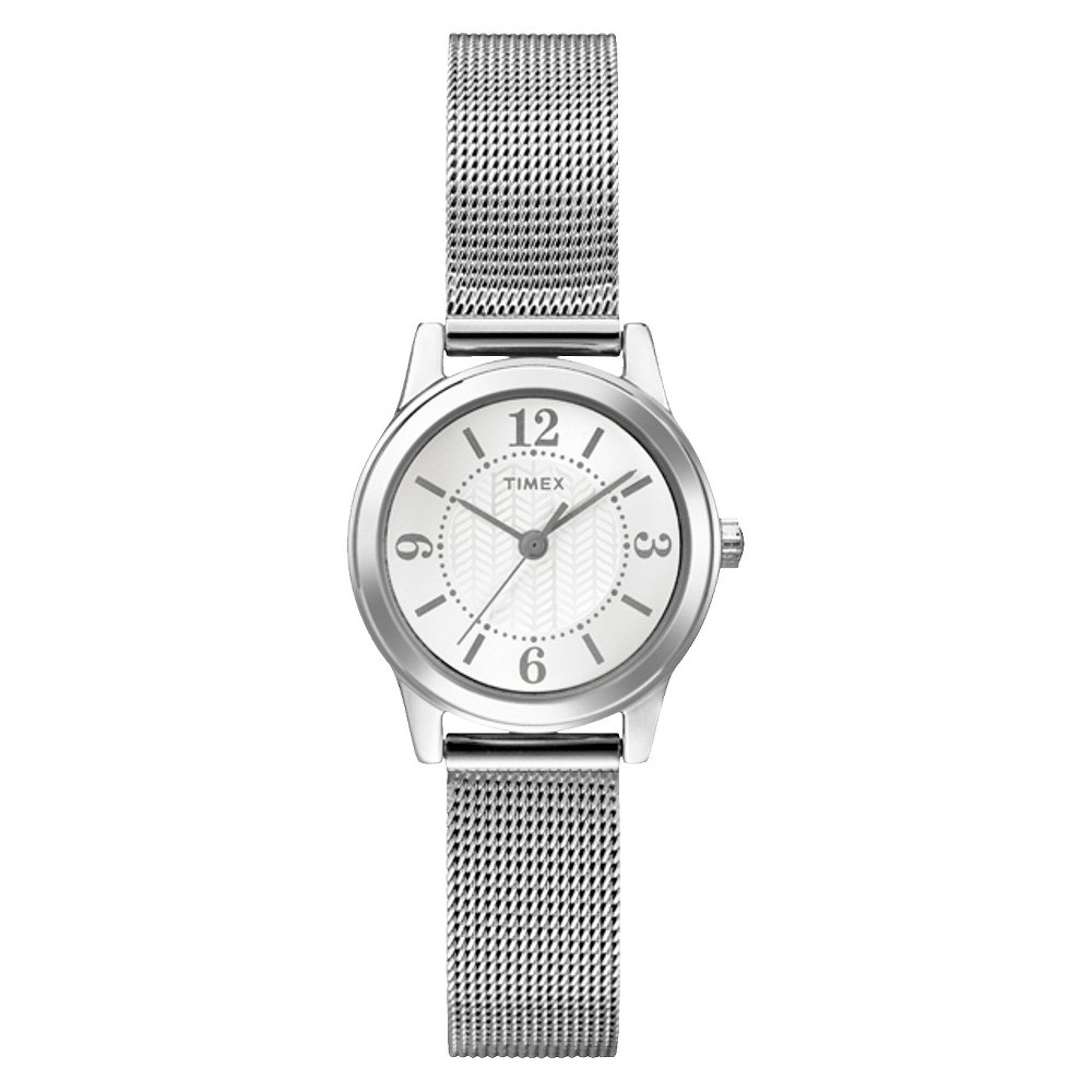 Womens Timex Watch with Mesh Bracelet - Silver T2P457JT Price