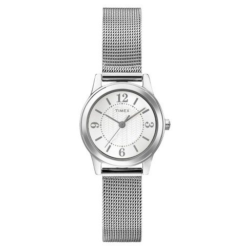 Women's Timex Watch with Mesh Bracelet - Silver T2P457JT - image 1 of 3
