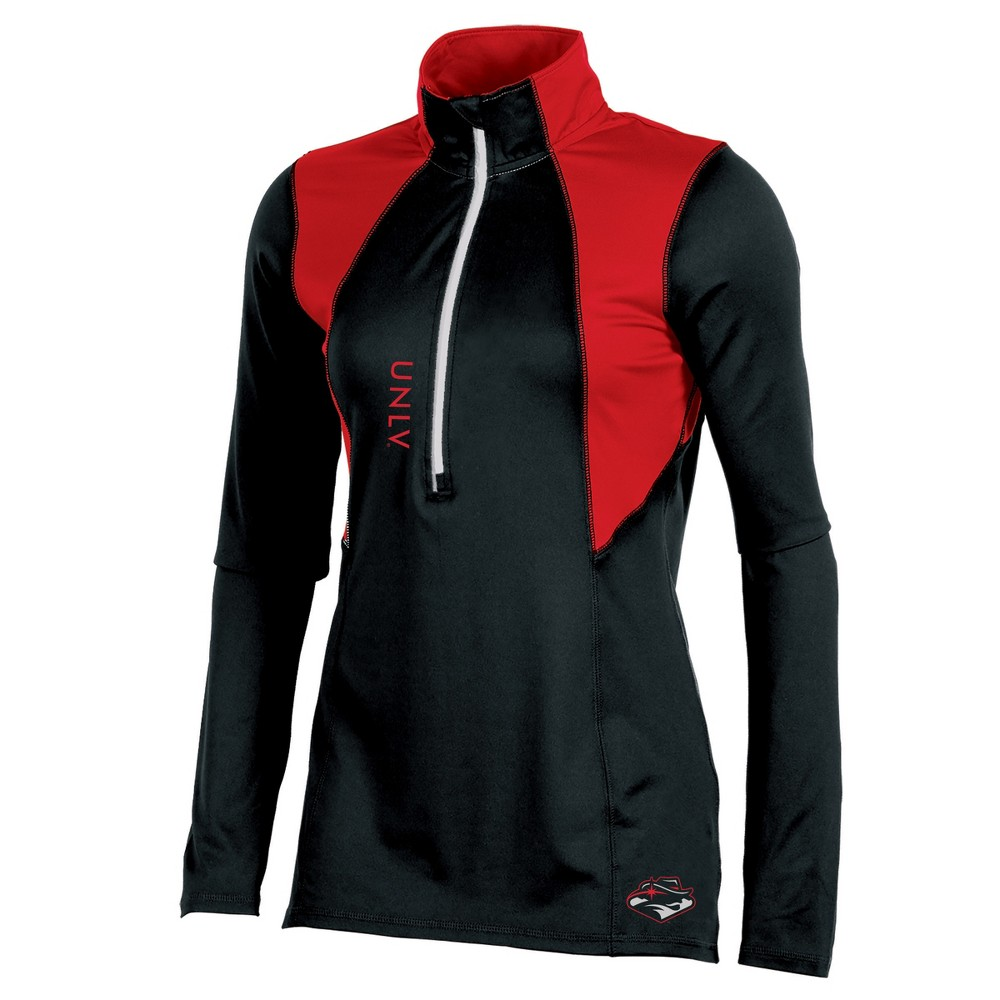 Unlv Rebels Women's Long Sleeve 1/2 Zip Performance Sweatshirt - XL, Multicolored