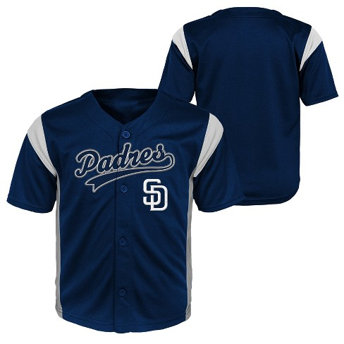 best deals on 2656a bfb26 San Diego Padres Baby Boys' Short Sleeve Button-Down Jersey - 12 M