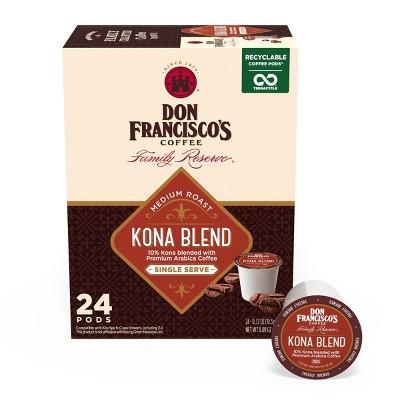 Don Francisco's Kona Blend Medium Roast Coffee - Single Serve Pods - 24ct
