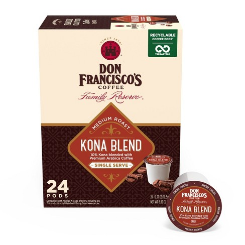 Don Francisco's Kona Blend Medium Roast Coffee - Single Serve Pods - 24ct - image 1 of 4