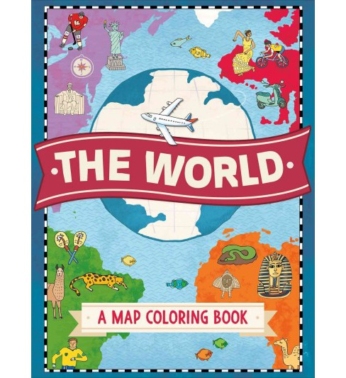 World : A Map Coloring Book (Paperback) - image 1 of 1