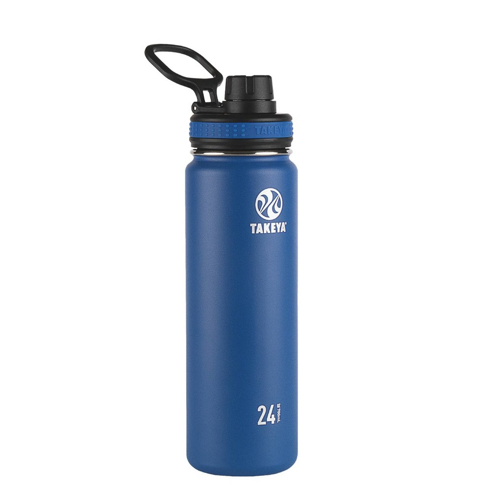 Takeya 24oz Originals Insulated Stainless Steel Water Bottle With Spout Lid Navy