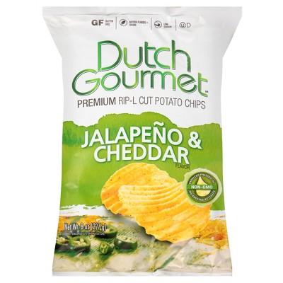 dutch gourmet® jalapeno & cheddar rip-l cut potato chips