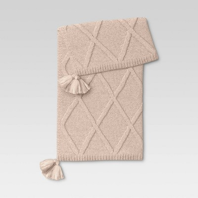Chunky Diamond Knit Throw Blanket - Threshold™
