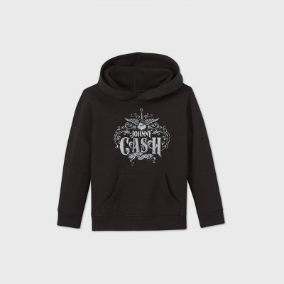 Toddler Boys' Johnny Cash Fleece Hooded Sweatshirt - Black 4T