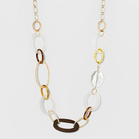 Links Long Necklace - A New Day™ - image 1 of 3
