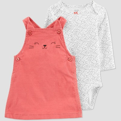 Baby Girls' Cat Skirtall Top & Bottom Set - Just One You® made by carter's Pink 9M