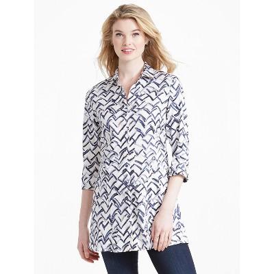 NIC+ZOE Women's Shirt Jacket White Multi