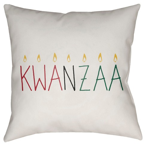 Kwanzaa Kinara Throw Pillow - Surya - image 1 of 1