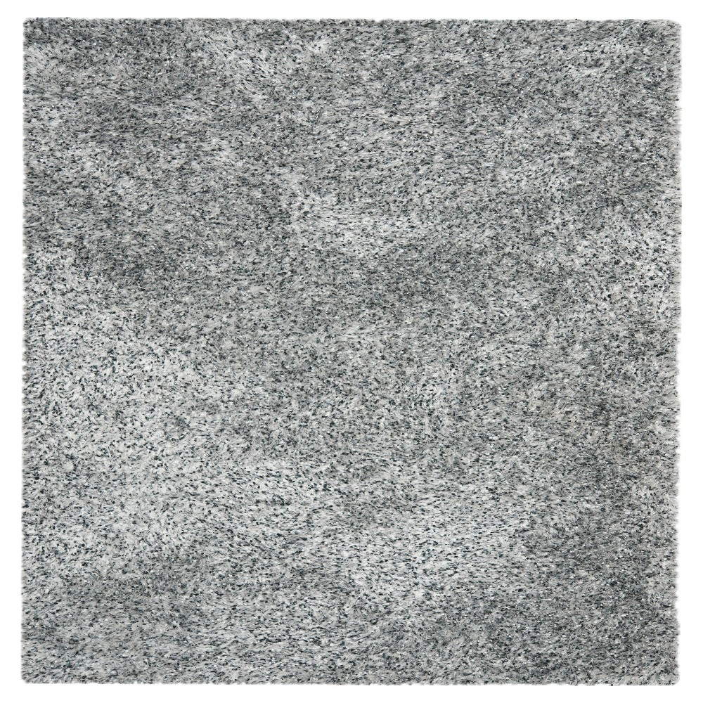 Silver Solid Tufted Square Area Rug - (7'X7') - Safavieh