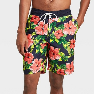 "Men's 9"" Floral Print Board Shorts - Goodfellow & Co™ Black"