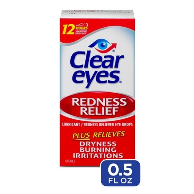 Clear Eyes Redness Relief Eye Drops Soothes & Moisturizes - 0.5 fl oz