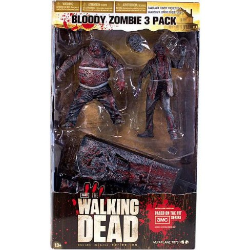 McFarlane Toys The Walking Dead AMC TV Bloody Zombie 3-Pack Action Figure Set - image 1 of 4