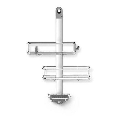 Adjustable Stainless Steel and Anodized Aluminum Shower Caddy Medium Silver - simplehuman