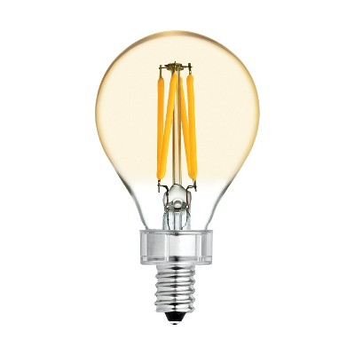 General Electric 40W VintaA15 Ceiling Fan CAC base Filament Amber LED Light Bulb White