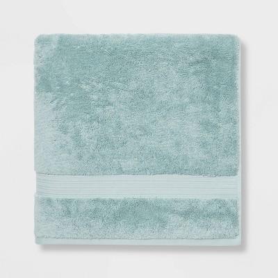 Antimicrobial Oversized Bath Towel Aqua - Total Fresh