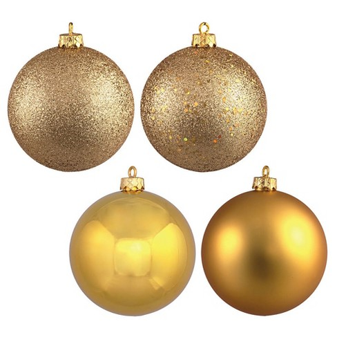 20ct Gold Assorted Finishes Ball Christmas Ornament Set - image 1 of 2