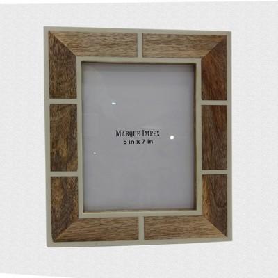 5 X7  Wooden Photo Frame Bone - Threshold™
