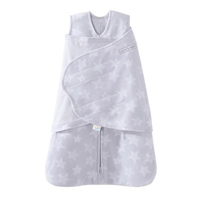 Halo SleepSack Fleece Swaddle - Gray Stars - S