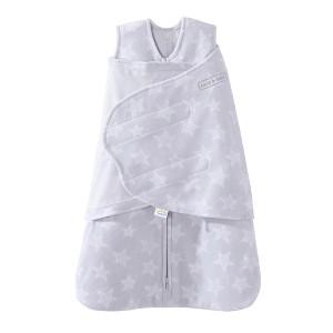 HALO Innovations Sleepsack Micro-Fleece Swaddle - Gray Stars, Size: Small