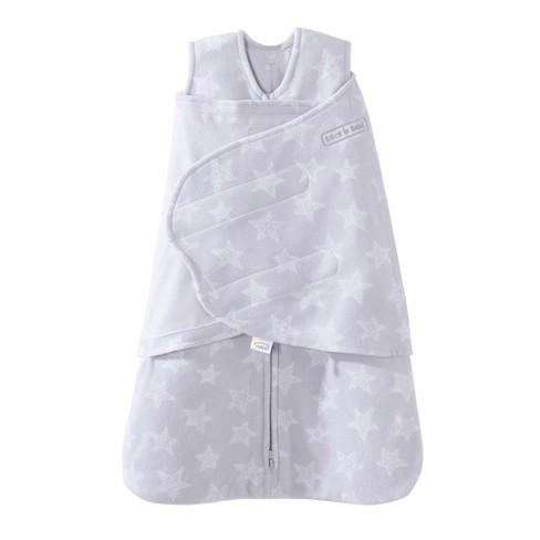 Halo Innovations Sleepsack Micro Fleece Swaddle Gray Stars