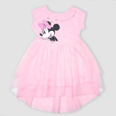 Toddler Girls' Disney Minnie Mouse Tutu Dress - Pink