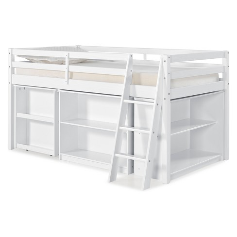 newest 4f6a3 c0f73 Roxy Junior Loft Bed With Pull-out Desk, Shelving And Bookcase