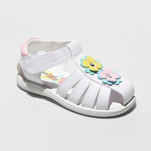 711a0ac258b4 Toddler Girls  Rachel Mae Fisherman Sandals - White 6   Target