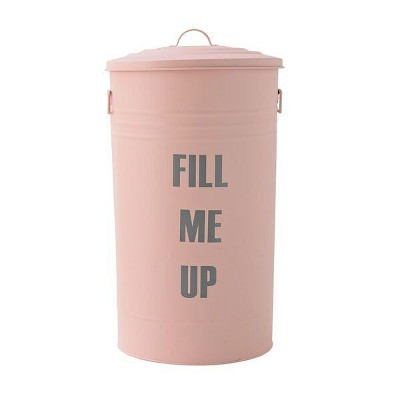 Metal Trash Can  Fill Me Up  - Rose/Gray - 3R Studios