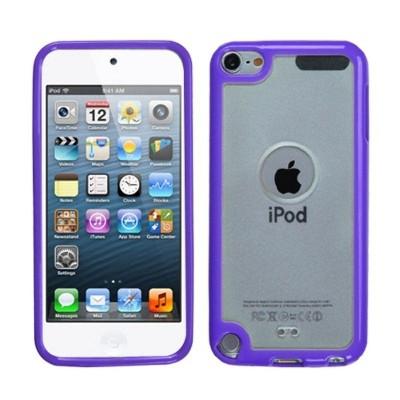 MYBAT For Apple iPod Touch 5th Gen/6th Gen Clear Purple Gummy TPU Case