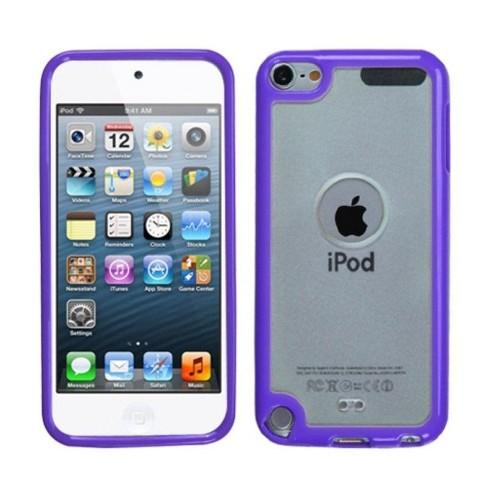 MYBAT For Apple iPod Touch 5th Gen/6th Gen Clear Purple Gummy TPU Case - image 1 of 3