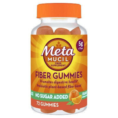 Metamucil Fiber Supplement Sugar-free Gummies - Orange - 72ct