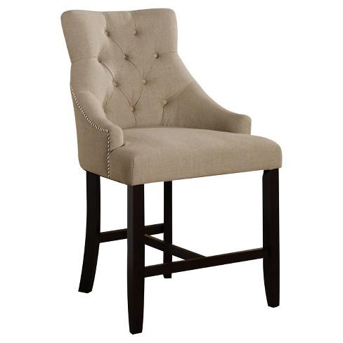Counter And Bar Stools Acme Furniture Cream Walnut Target