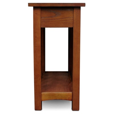Beau Mission End Table With Shelf   Medium Oak   Leick Home