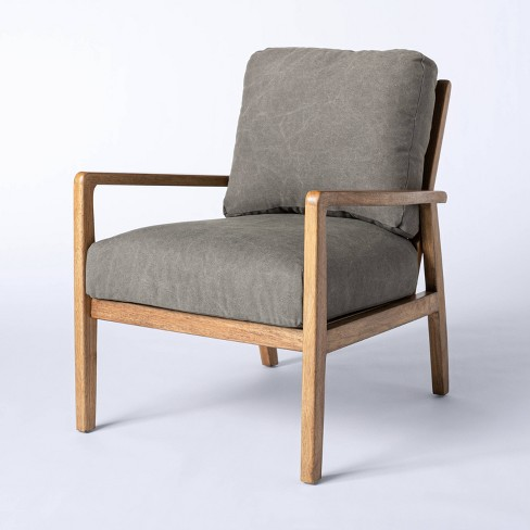 Dagget Mixed Material Accent Chair - Threshold™ designed with Studio McGee - image 1 of 4