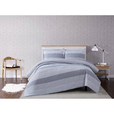 Multi Stripe Quilt Set Gray - Truly Soft