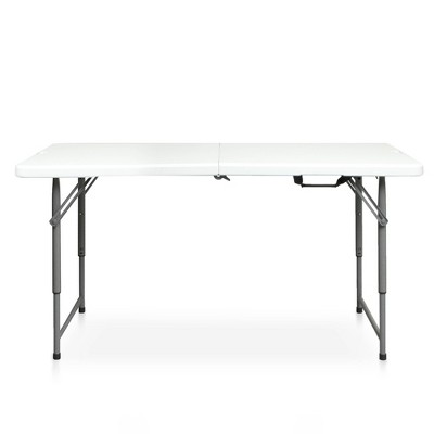 4' Folding Banquet Table Off-White - Plastic Dev Group