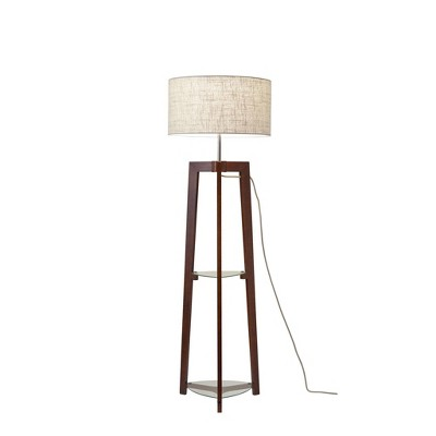 "60"" 3-way Henderson Shelf Floor Lamp Brown - Adesso"