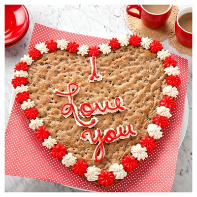 Mrs Fields I Love You Cookie Cake Chocolate Chip Target