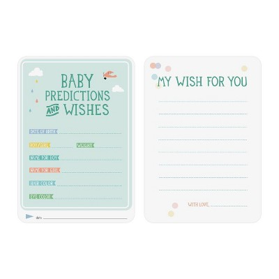 Milestone Baby Shower Predictions and Wishes Cards - 6pc