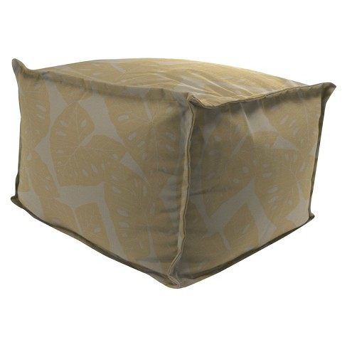 Outdoor Bean Filled Pouf/Ottoman In Sunbrella Radiant Dune  - Jordan Manufacturing - image 1 of 1