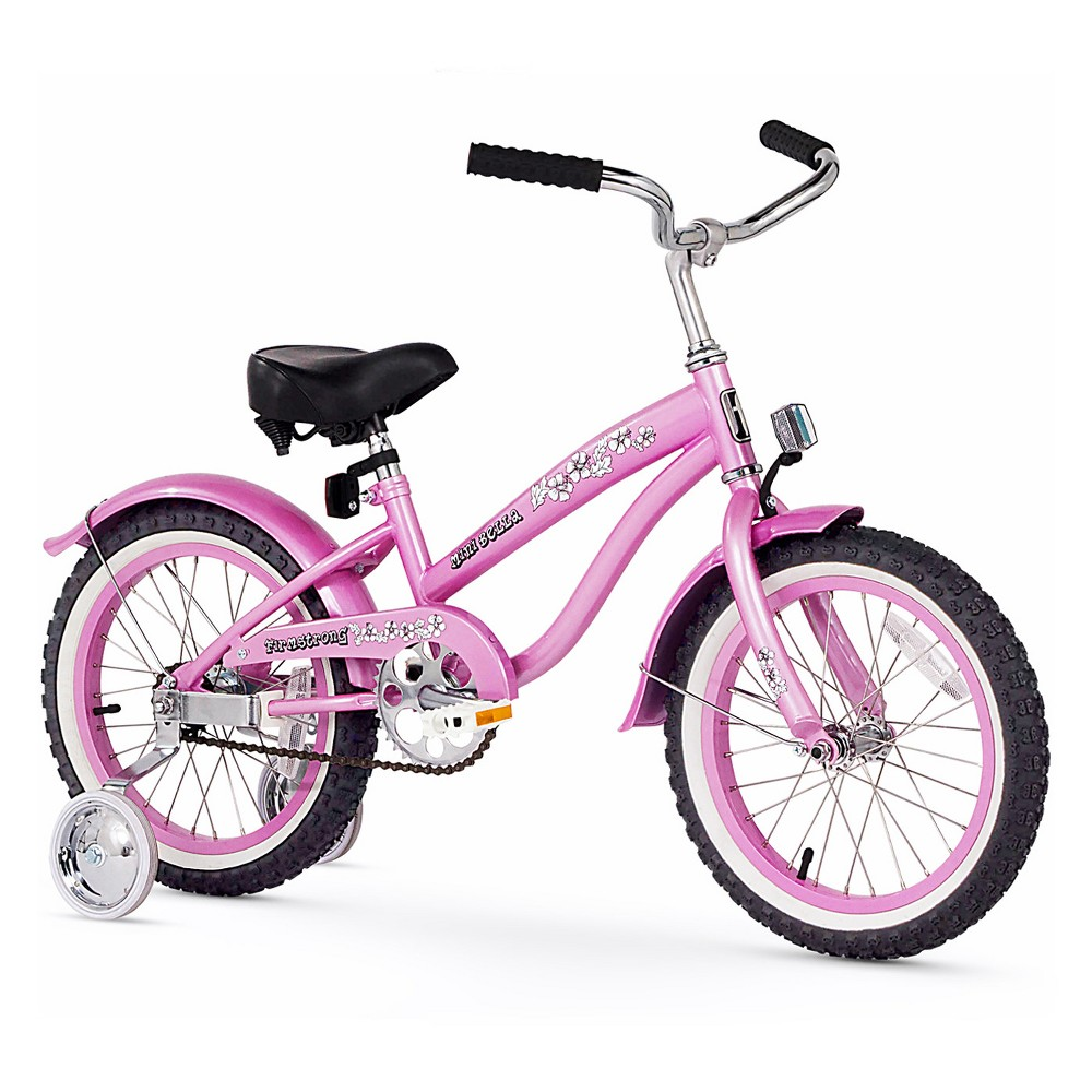 Firmstrong Mini Bell Sports 16 Kids' Bike with Training Wheels - Pink