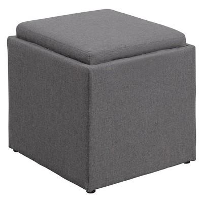 Johar Furniture Designs4Comfort Park Avenue Single Storage Ottoman with Stool