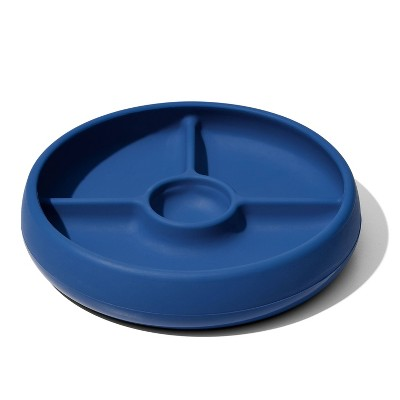 OXO TOT Silicone Divided Plate - Navy