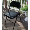 Steel Folding Chair Black - PDG - image 3 of 4