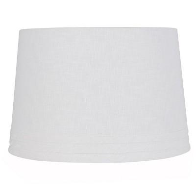 Large Mod Drum Trim linen Lampshade White - Threshold™