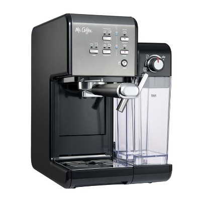Mr. Coffee BVMC-EM7000DS Home Kitchen 1 Touch 19 Bar Pump Automatic Cappuccino, Latte, Espresso Maker Machine, Black