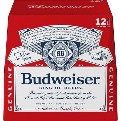 Budweiser Lager Beer - 12pk/12 fl oz Bottles